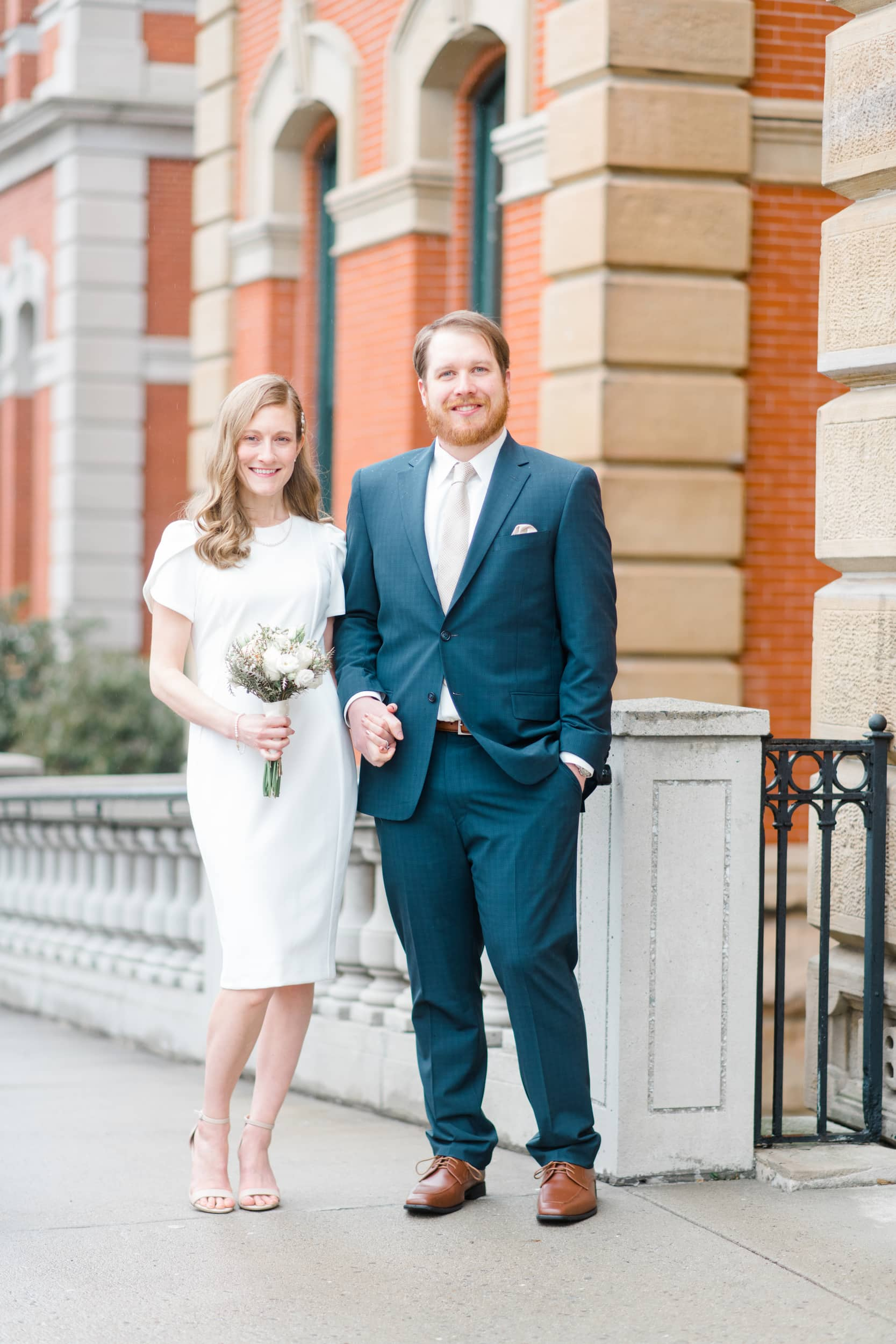Hannah & Alex's Beautifully Intimate Wedding at the Cambria County Courthouse