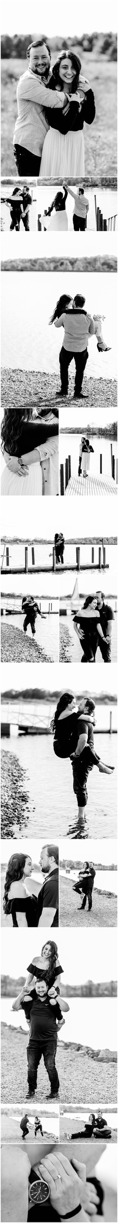 Lakeside Engagement Session at Montour Preserve