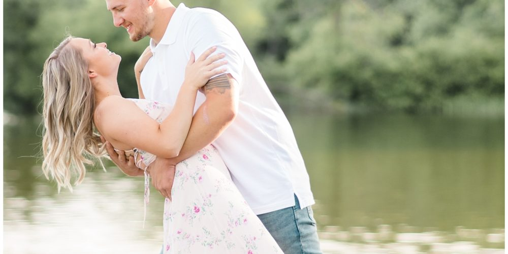 Kayla & Dalton's Outdoor Adventure Engagement Session at Gifford Pinchot State Park